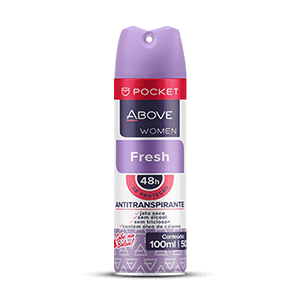 DESODORANTE AEROSOL ABOVE POCKET FRESH FEMININO 100ML