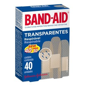 CURATIVO BAND AID TRANSPARENTE LEVE 40 PAGUE 30