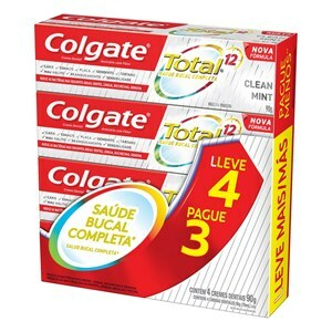 CREME DENTAL COLGATE TOTAL 12 CLEAN MINT 90G LEVE 4 PAGUE 3