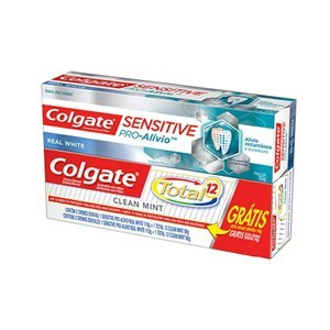 CREME DENTAL COLGATE SENSITIVE PRO-ALÍVIO 110G GRÁTIS CREME DENTAL COLGATE TOTAL12 CLEAN MINT 90G