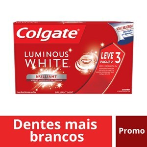 CREME DENTAL COLGATE LUMINOUS BRILLIANT WHITE 70G - LEVE 3 PAGUE 2