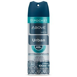 DESODORANTE AEROSOL ABOVE POCKET URBAN MASCULINO 100ML