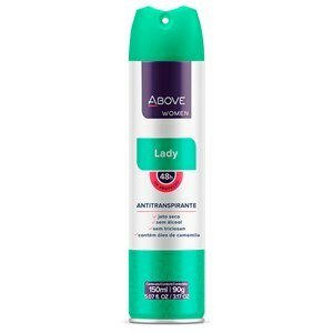 DESODORANTE AEROSOL ABOVE LADY FEMININO 150ML