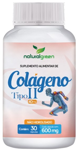 COLÁGENO TIPO II 40MG NATURAL GREEN 30 CÁPSULAS