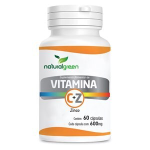 VITAMINA C 45MG + ZINCO 14MG NATURAL GREEN 60 CÁPSULAS
