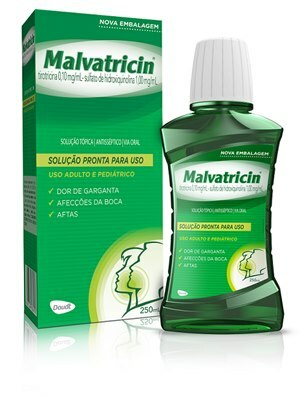 ENXAGUATÓRIO BUCAL MALVATRICIN 250ML
